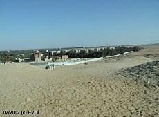 Neue Mauern Umringen Die Pyramiden Von Giseh